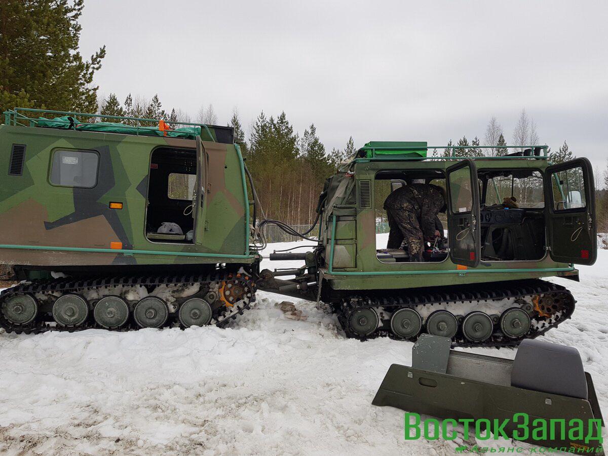 Выездные бригады для ремонта и обслуживания гусеничных вездеходов Лось в полевых условиях