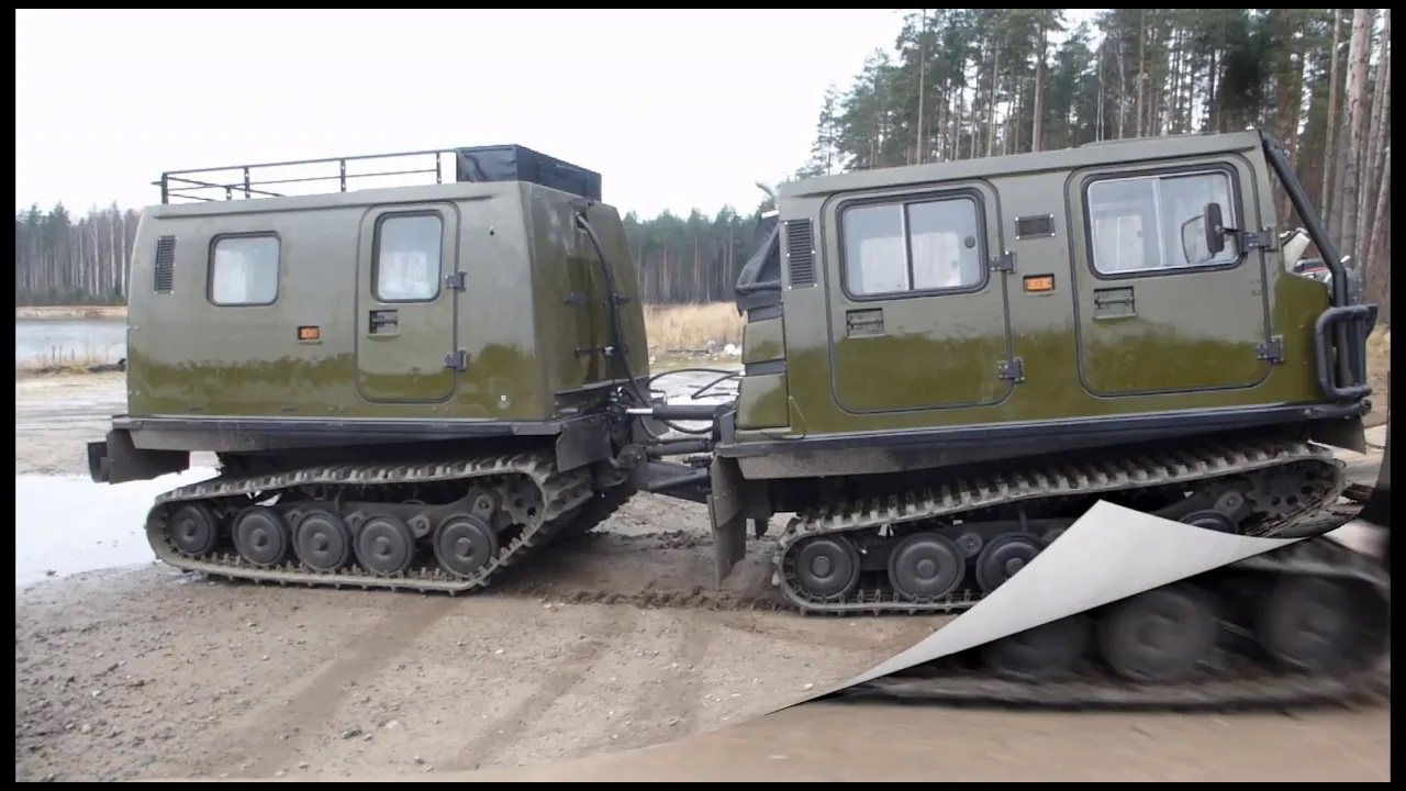 Предварительные испытания вездехода BV-206 Лось